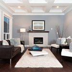 contemporary living room with Benjamin Moore eternity AF-695 wall paint color