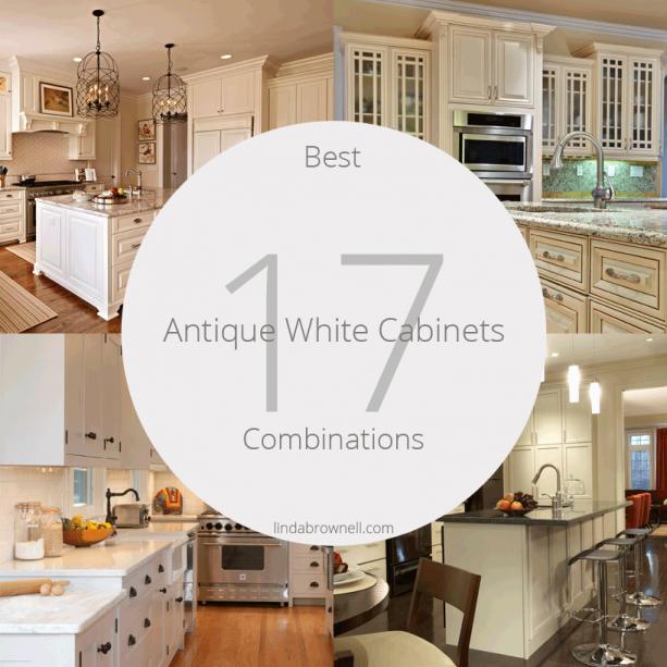 17 best antique white kitchen cabinets combinations