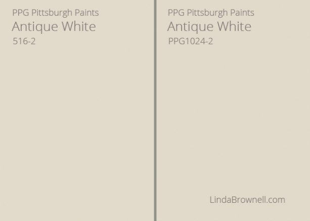 antique white pittsburgh paint