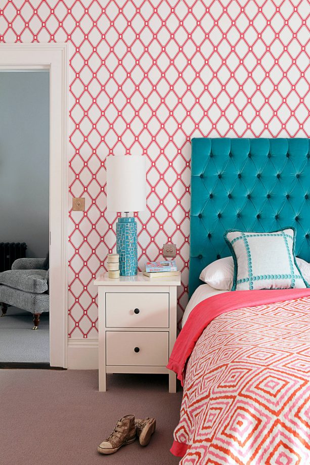 pink bedroom colors that go with teal