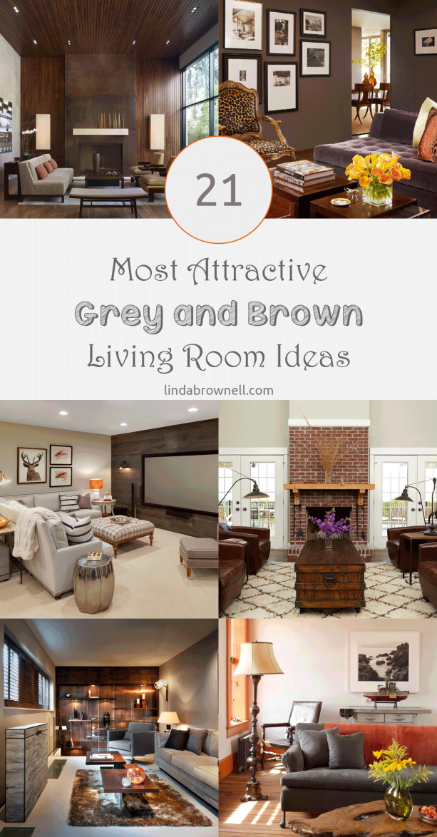 21 most attractive grey and brown living room ideas
