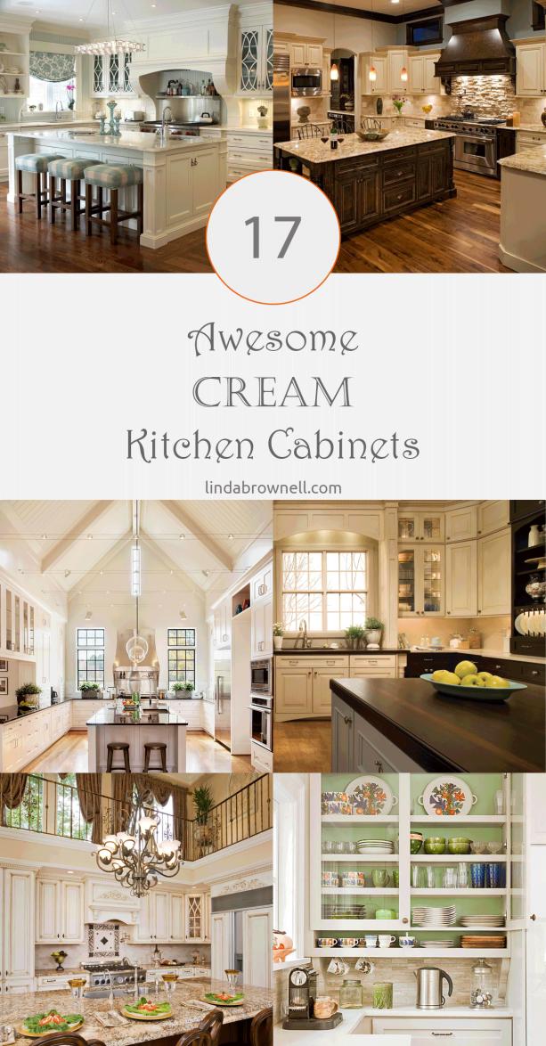 17 cream kitchen cabinets