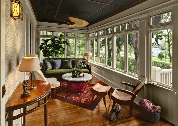 beadboard paneling in a sunroom porch