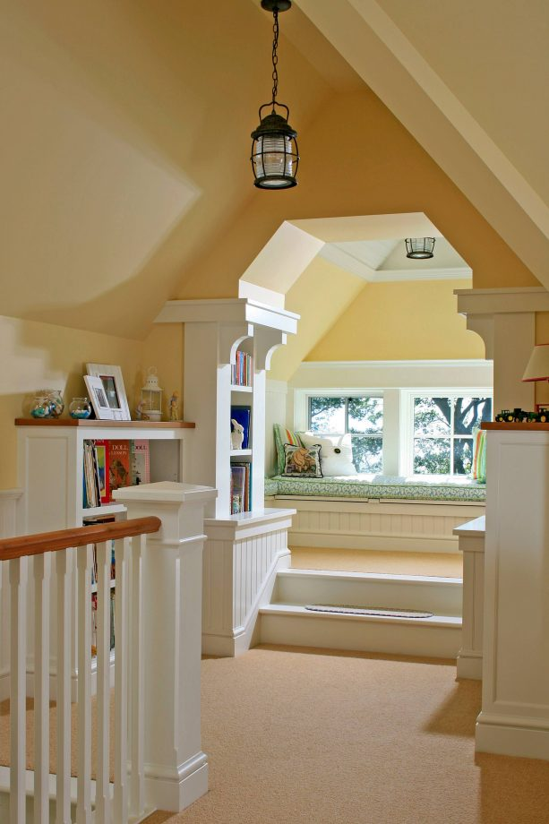hallway with cream wall paint