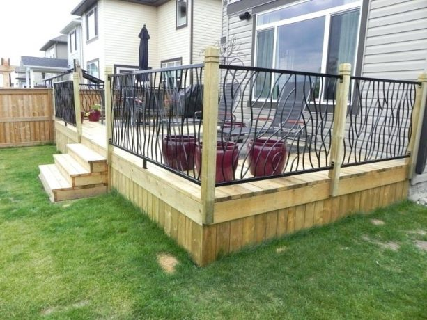 custom wrought iron railing for front porch