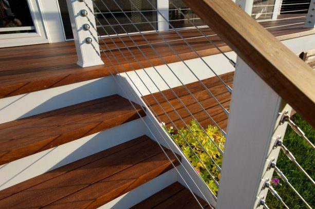 front porch with cable railing