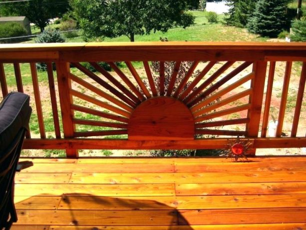 sunburst design for front porch railing