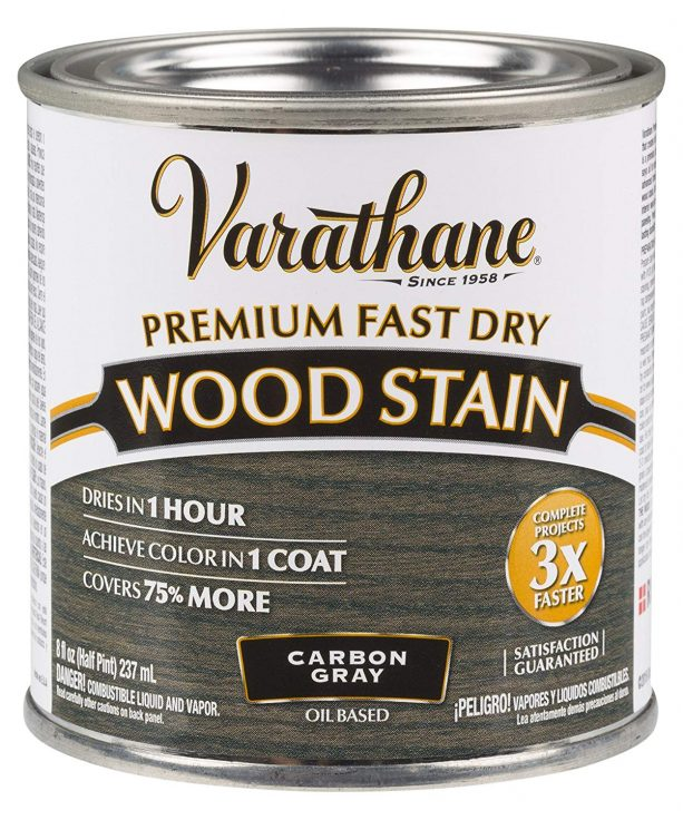 Rust-Oleum Varathane Premium Fast Dry Wood Stain Carbon Gray