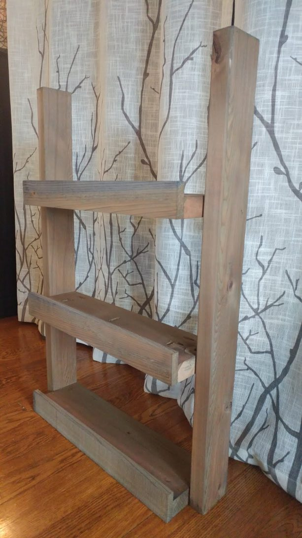 custom shelf with Wood Accelerator finish