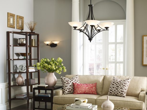 the use of battery-operated lights in a living room