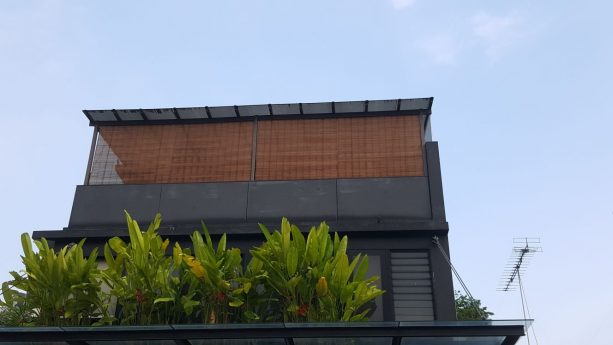 the use of bamboo shades in upper level