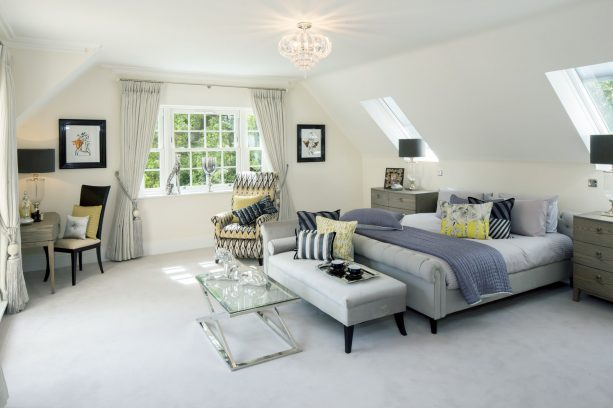 long soft grey curtains with tiers for short wide windows
