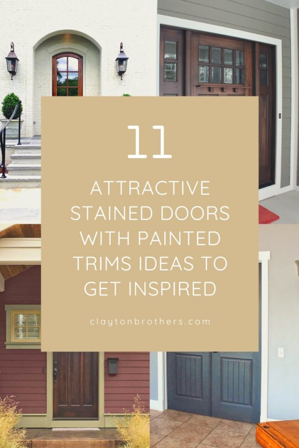 Stained Doors with Painted Trims Ideas