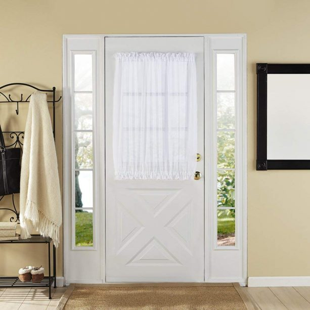 Style Master white elegance sheer decor panel for Dutch door