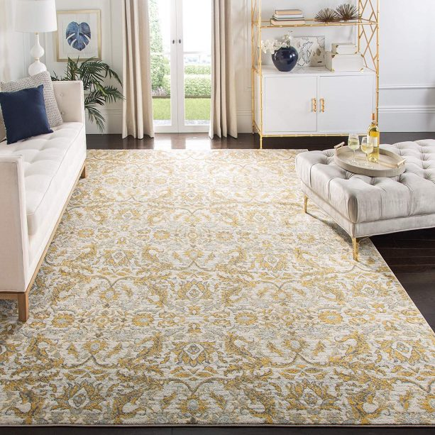 Safavieh ivory and gold area rug
