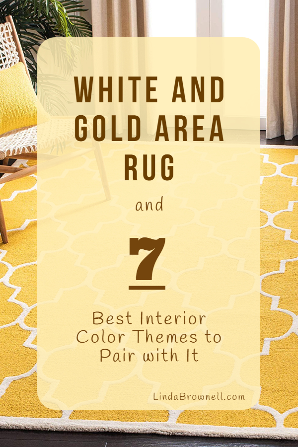 White and Gold Area Rug
