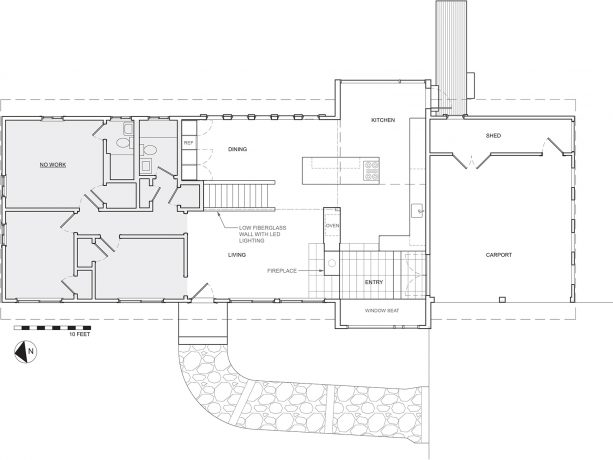 the floor plan of the Sudbury Residence after the addition