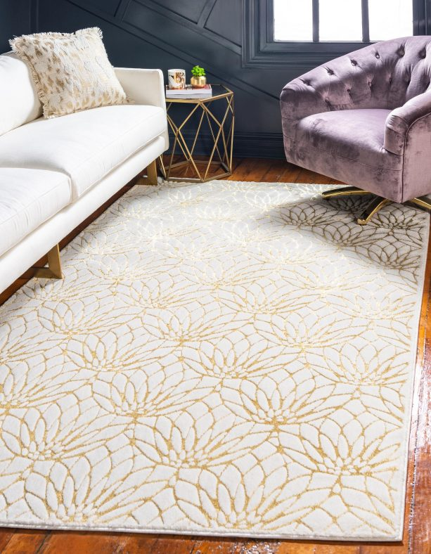 White And Gold Area Rug And 7 Best Interior Color Themes To Pair With It Jimenezphoto