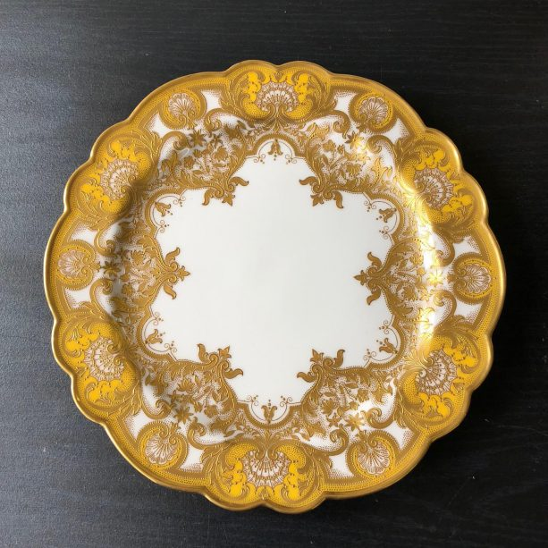 Elise Abrams Antiques yellow dinner plates set