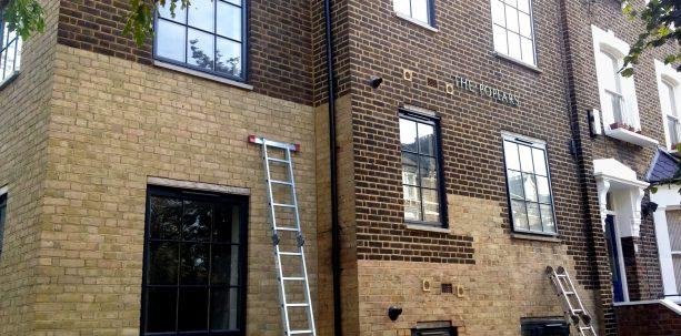 a new tone for exterior brick walls