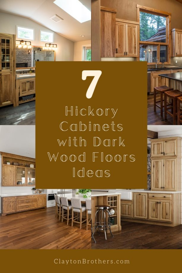 Hickory Cabinets with Dark Wood Floors