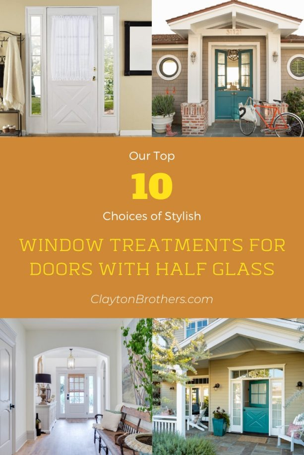 Window Treatments for Doors with Half Glass