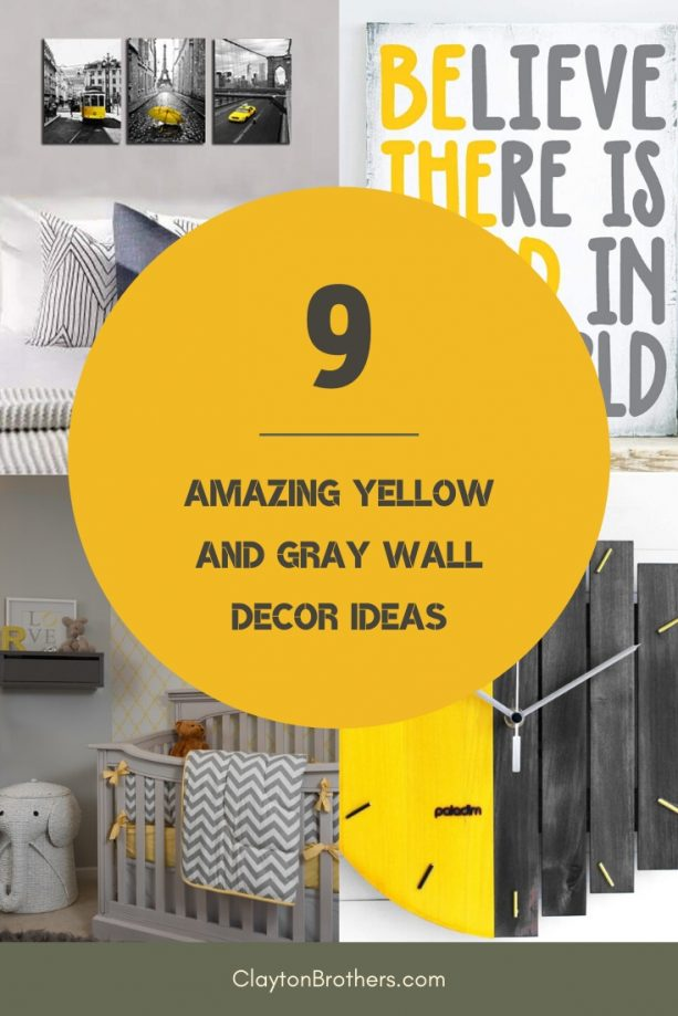 Yellow and Gray Wall Decor