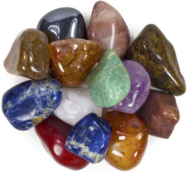 assorted colors polished natural stones