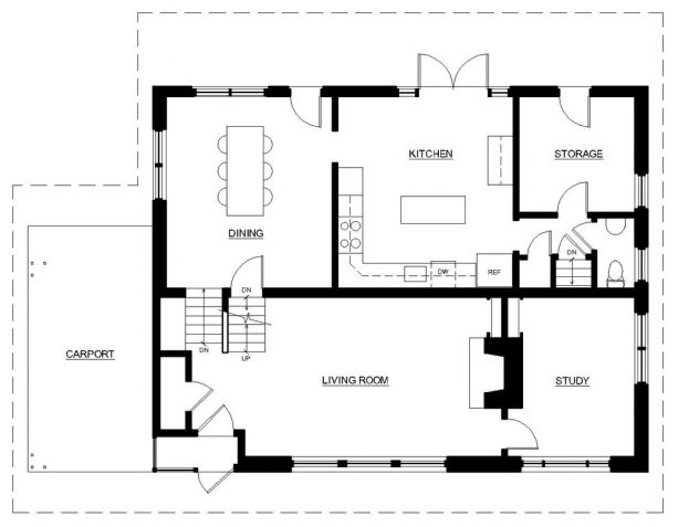 the floor plan before the remodeling