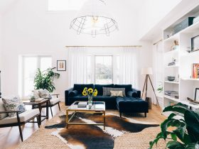 oversized wire chandelier as one excellent choice for industrial farmhouse living room