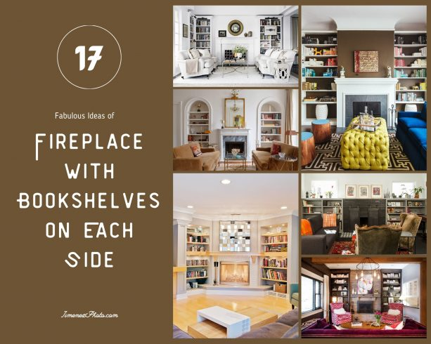 17 Fabulous Ideas of Fireplace with Bookshelves on Each Side