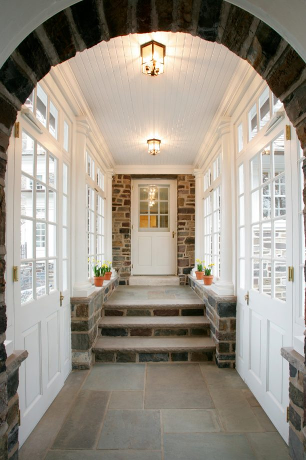 the enclosed walkway interior