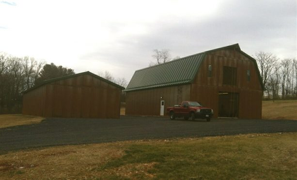 the pole barn functioned for horses lodging in the first floor and storage in the loft